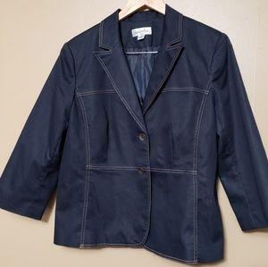 Isabella Navy Denim Skirt Suit